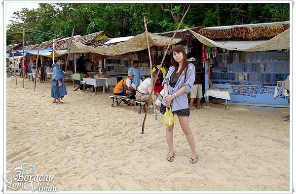 海灘邊的小販
