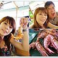 蝦子終於買到夠大隻  可以用鹽烤方式