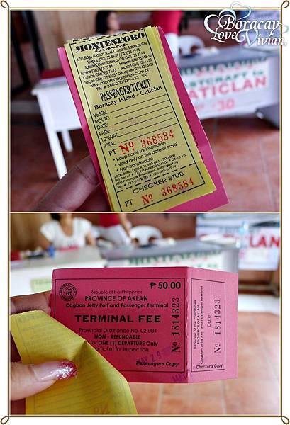 CATICLAN Ticket 30 Peso Terminal Fee 50 Peso