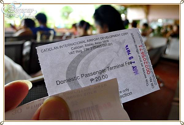 Domestic Passenger Terminal Fee ==> 20 Peso/人