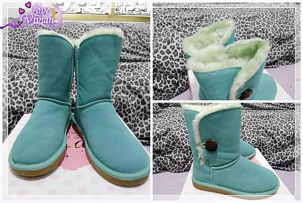糖果綠中筒雪靴