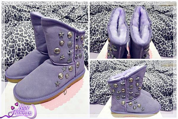 浪漫紫低筒雪靴