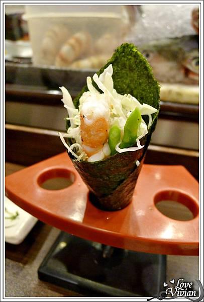 蘆筍蝦手卷 60 元