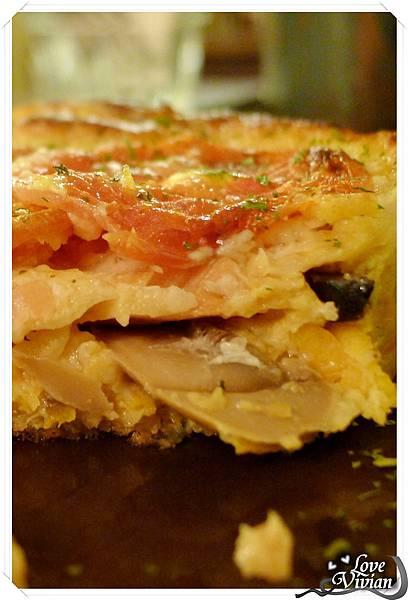 蘑菇鮭魚乳酪奶蛋派