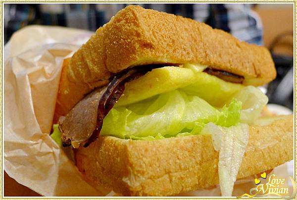 烤牛肉 霸王吐司堡