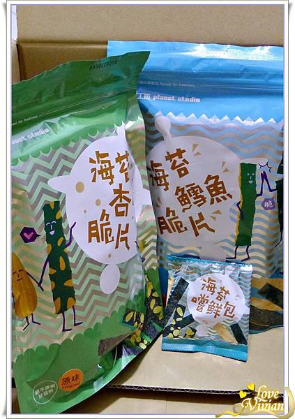 海苔杏仁脆片&海苔鱈魚脆片