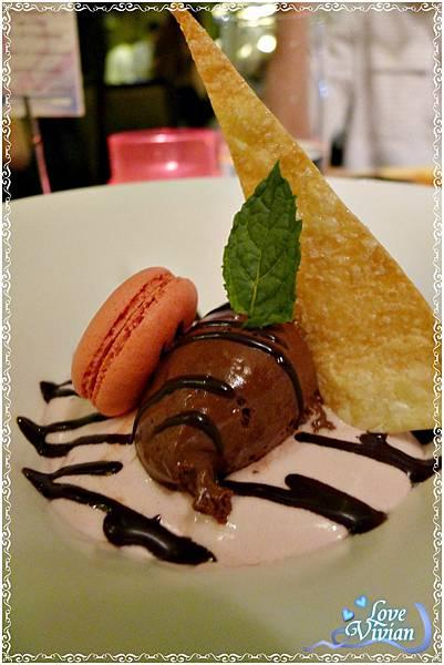 品味甜點(四選一)~比利時70%巧克力慕斯
