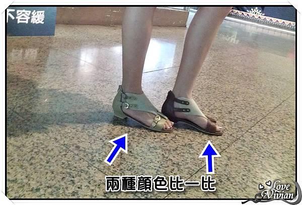 KAZANA平底拼色涼鞋 兩色比一比