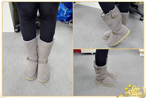 1號同事戰利品-灰色雪靴