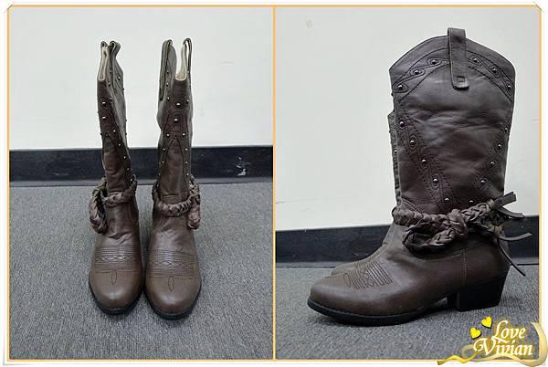 2號同事戰利品~咖啡色帥氣長靴
