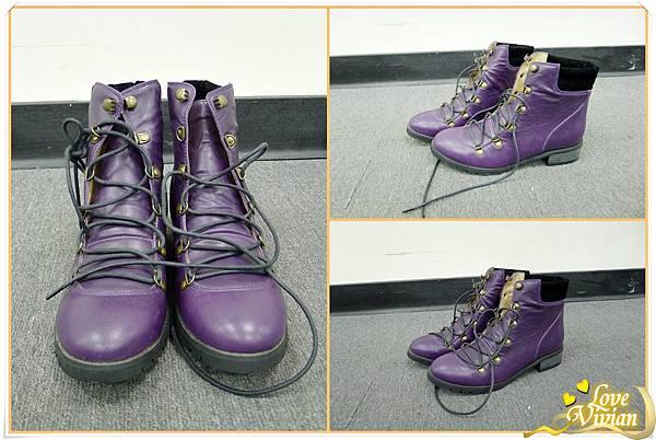3號同事戰利品~紫色亮面短靴