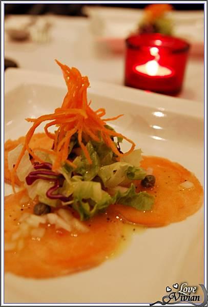 前菜&沙拉:檸檬薄片生鮭魚