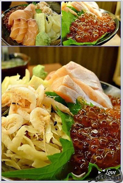 鮭魚親子井 定食340元