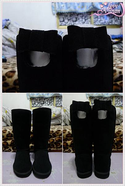 黑色長筒雪靴