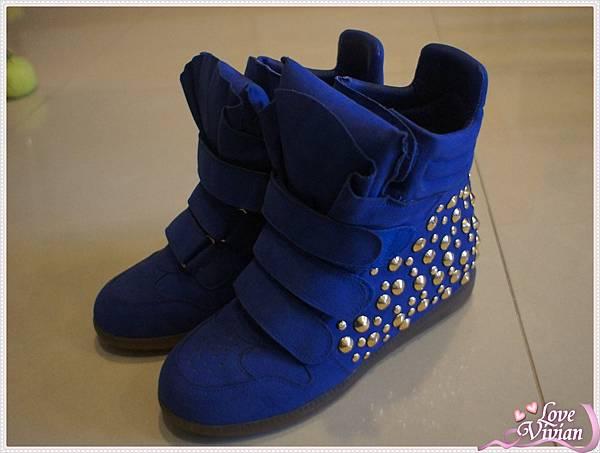 鉚釘內增高厚底鞋