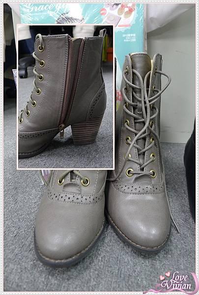 鐵灰色短靴