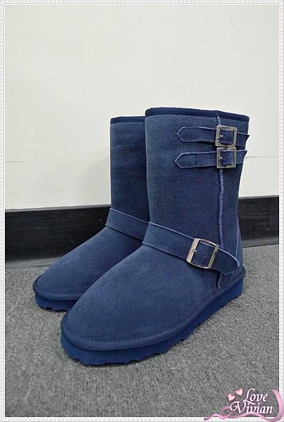 藍色短筒雪靴