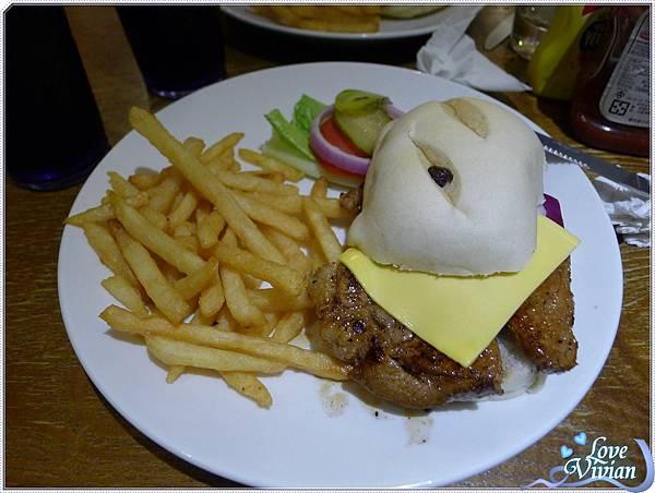 紐約客豬排漢堡