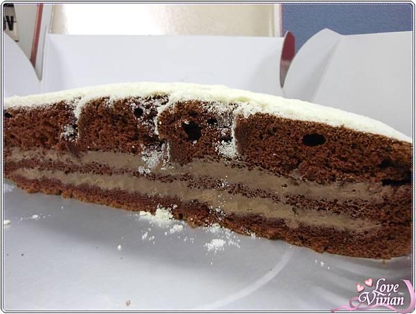 巧克力波士頓派-巧克力夾餡兩層