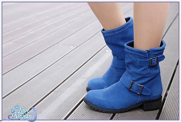 寶藍鞋試穿1
