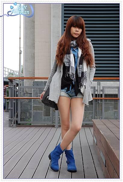 寶藍鞋試穿3