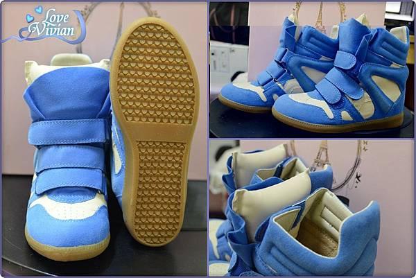 馬卡龍系列藍色的內增高休閒鞋 699元02.jpg