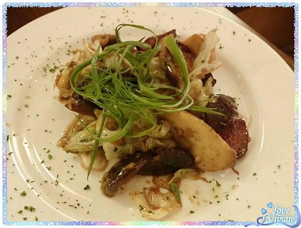 蒜炒培根綜合野菜盤