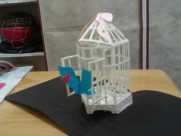 紙雕--鳥籠