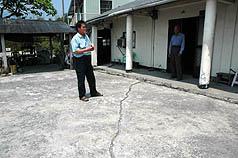 台東縣池上鄉二、三十戶住家蓋在歐亞板塊和菲律賓板塊接合處