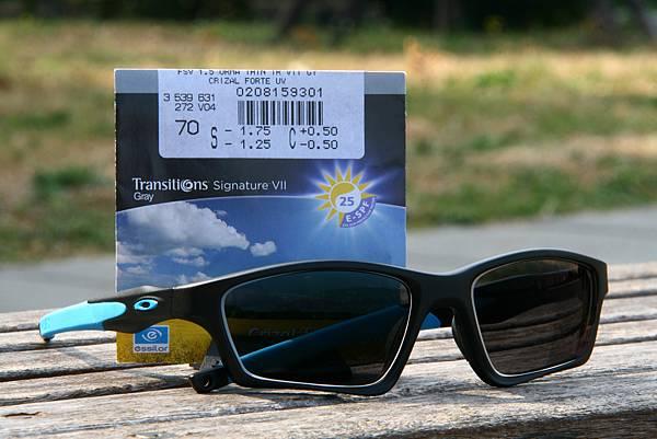 第七代鑽晶全視線視無限鏡片&OAKLEY Crosslink SWEEP OX8031-01 SKY TEAM配色