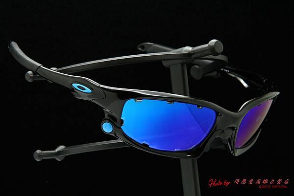 OAKLEY SPLIT JACKET & 客製化近視有度數冰晶藍色鍍膜太陽鏡片