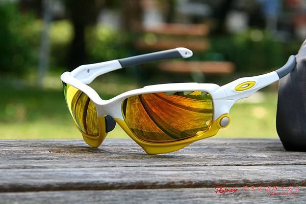 OAKLEY Custom Racing Jacket (原JAWBONE) 白黃配 運動型太陽眼鏡