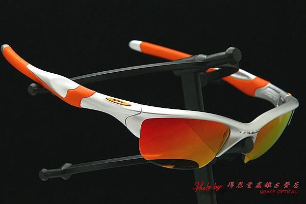 OAKLEY HALF JACKET 2.0 OO9144-02 & 客製化近視有度數紅鍍膜太陽眼鏡鏡片