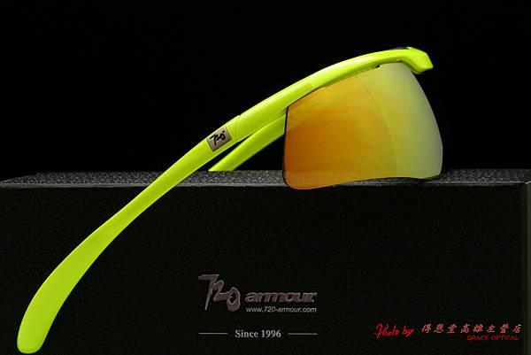 720armour Spike B336B3-4 螢光黃搭金色鍍膜 運動型太陽眼鏡
