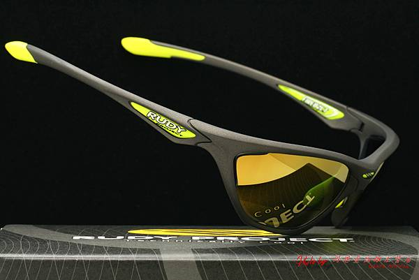 Rudy Project FIREBOLT 太陽眼鏡 & 高階運動型金色水銀有度數近視鏡片