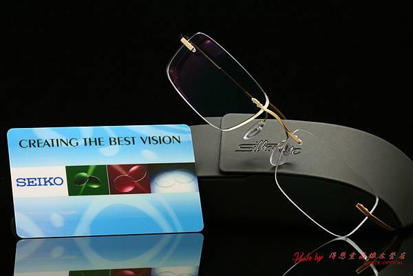 奧地利Silhouette詩樂眼鏡7577 純鈦無螺絲、無邊眼鏡 & SEIKO日本非球面鏡片