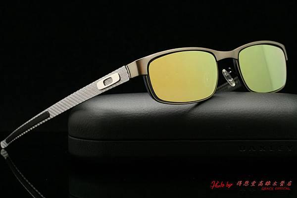 Oakley Carbon Plate OX5079-02 碳纖維光學近視眼鏡 & 金色鍍膜水銀鏡片