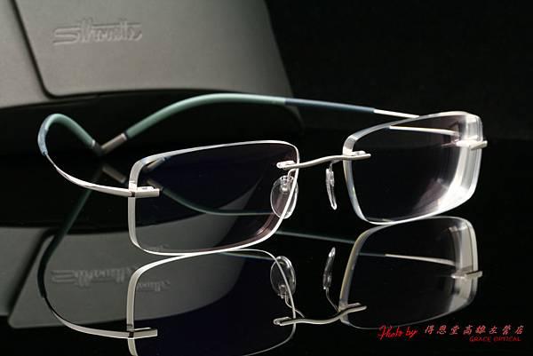 奧地利Silhouette詩樂眼鏡純鈦無螺絲設計無重量鏡架、Silhouette詩樂專用前掛太陽眼鏡 & 法國Essilor依視路濾藍光鏡片