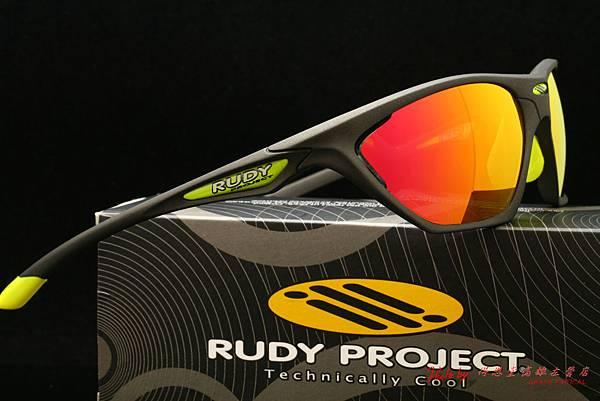 Rudy Project FIREBOLT 運動太陽眼鏡 & 高階運動型紅色水銀偏光有度數近視鏡片