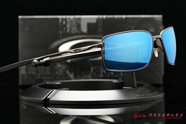 OAKLEY SQUARE WIRE OO4075-02 & 高階近視有度數藍鍍膜太陽眼鏡鏡片