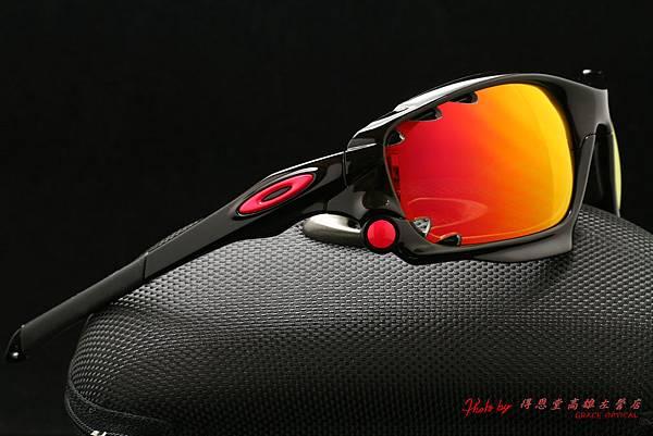 OAKLEY Racing Jacket ASIAN FIT OO9197-05(原JAWBONE)&高階彩色紅鍍膜偏光近視有度數運動太陽鏡片