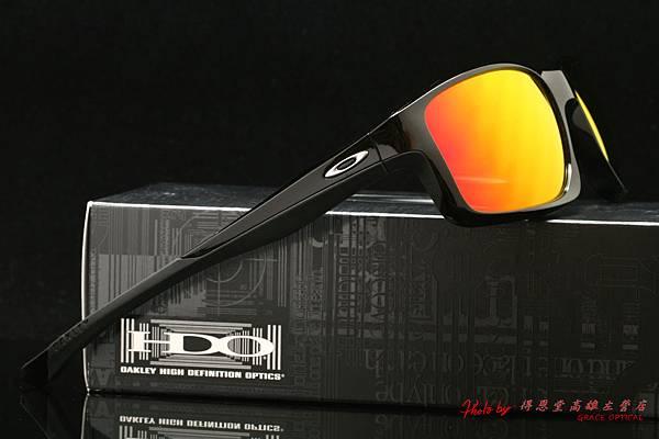 OAKLEY CHAINLINK Asian Fit OO9252-01太陽眼鏡 & 高階近視有度數偏光紅鍍膜太陽眼鏡鏡片