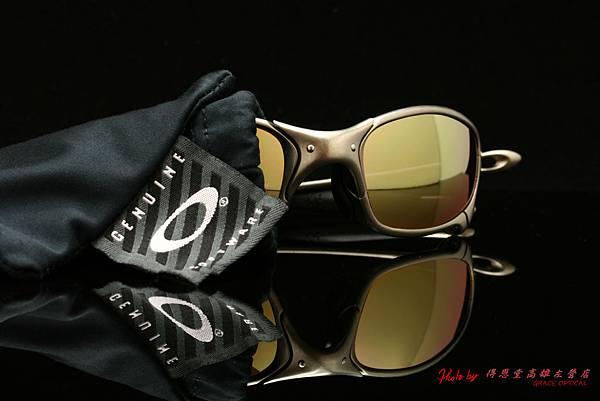 OAKLEY X METAL Juliet & 高階近視有度數偏光金色鍍膜太陽眼鏡鏡片