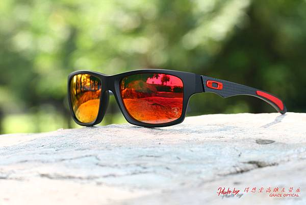 Oakley FERRARI JUPITER CARBON OO9220-06 & 高階運動型紅水銀有度數近視鏡片