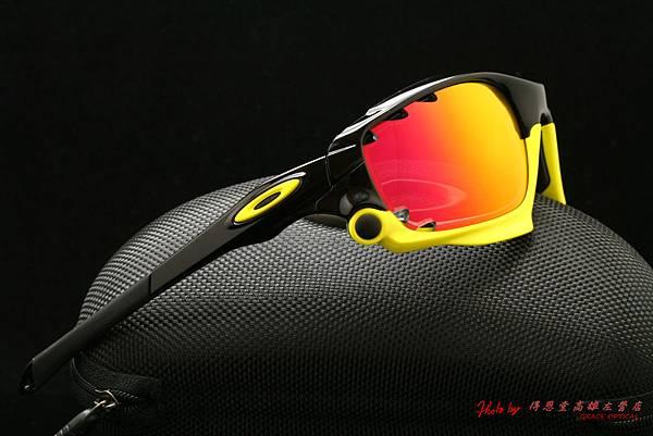 OAKLEY Custom Racing Jacket (原JAWBONE) & 高階近視有度數紅鍍膜偏光太陽鏡片