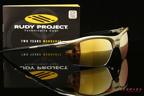 Rudy Project RYDON 運動型太陽眼鏡 & 高階運動型金色水銀有度數近視鏡片