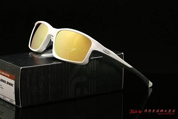 OAKLEY CHAINLINK OO9247-07太陽眼鏡&高階近視有度數偏光金鍍膜太陽眼鏡鏡片