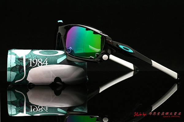 OAKLEY RACING JACKET OO9171-25 30周年紀念版運動太陽眼鏡 & 高階近視有度數綠鍍膜偏光太陽鏡片