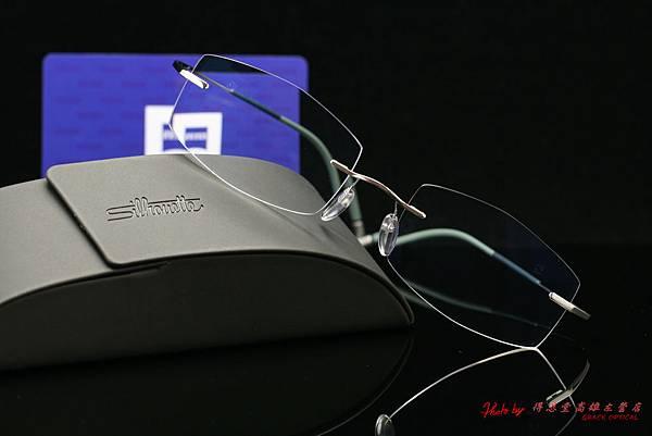 蔡司3C數位鑽立方鉑金鍍膜鏡片 & 奧地利Silhouette詩樂眼鏡純鈦無螺絲設計無重量鏡架