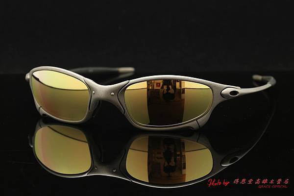 OAKLEY X METAL Juliet & 高階近視有度數金色鍍膜太陽眼鏡鏡片